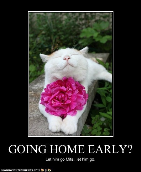 GOING HOME EARLY?