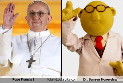 Pope Francis I Totally Looks Like Dr. Bunsen Honeydew