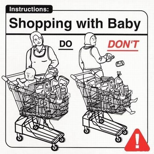 dos and donts,instructions,shopping carts