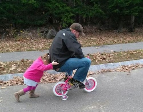 rites of passage,bicycles,fatherdaughter