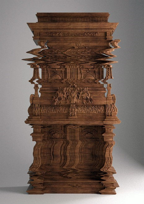 "This Isn't Photoshopped of the Day: Hand-Carved Wooden ""Glitch"" Furniture"