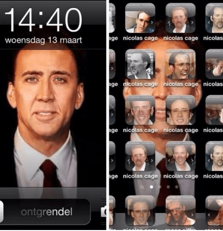 iPhone, Starring Nicolas Cage