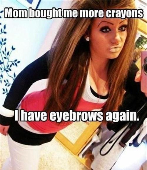 makeup,eyebrows,crayons