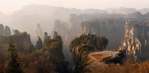 Overlooking the Zhangjiajie National Forest Park