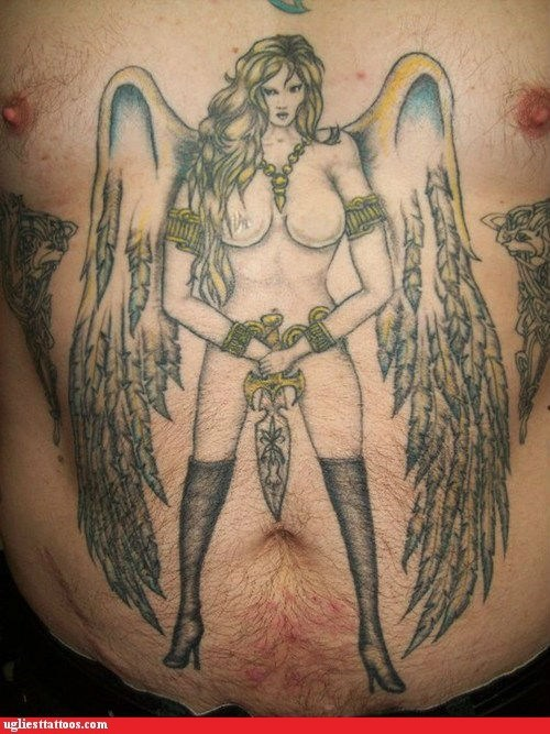 fantasy,wings,sexy tattoos,chest tattoos