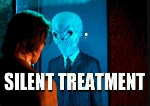 silent treatment,literalism,doctor who,the silence