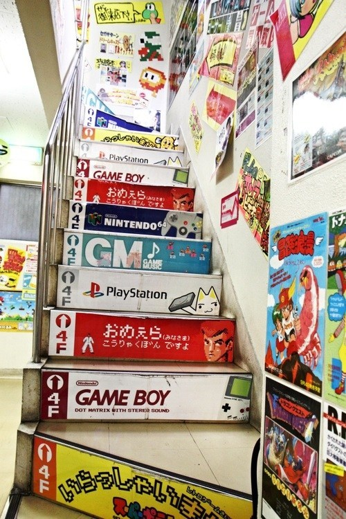 Amazing Stairs from a Game Store in Japan