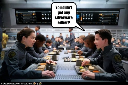 You didn't get any silverware either?