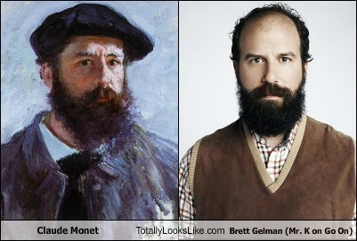 Claude Monet Totally Looks Like Brett Gelman (Mr. K on Go On)