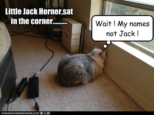 Little Jack Horner,sat in the corner..........