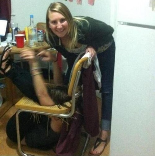 chair,drunk,Party,prank,funny