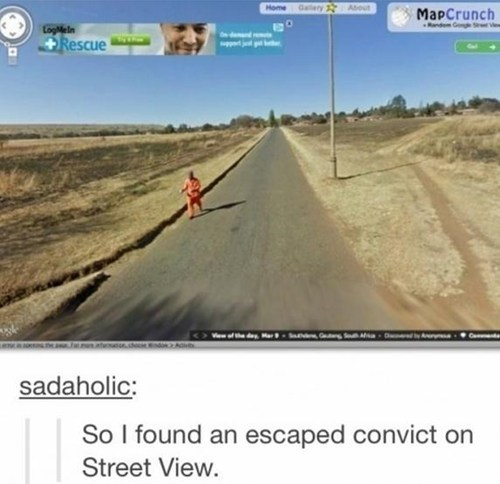 civic duty,google street view,escaped convict