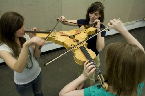 That's One Way to Play a String Trio