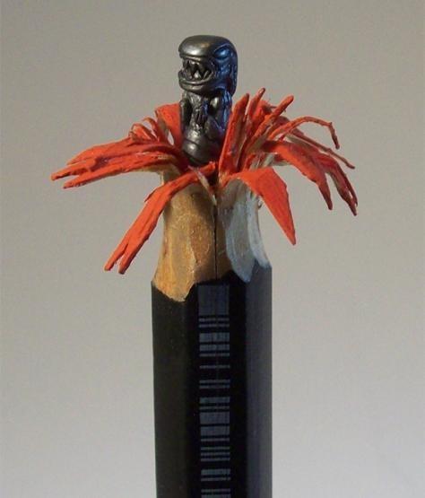 Aliens,chestburster,carving,pencil art,xenomorphs