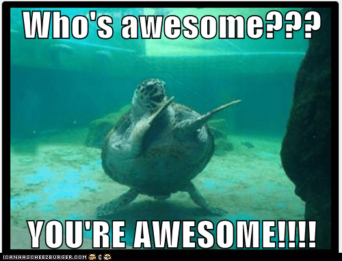 Who's awesome???  YOU'RE AWESOME!!!!