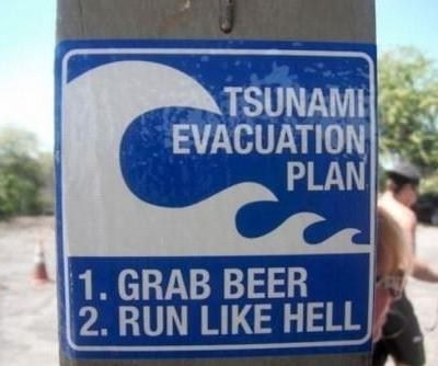 beer,Tsunami,run,evacuation