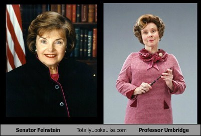 Senator Feinstein Totally Looks Like Professor Umbridge