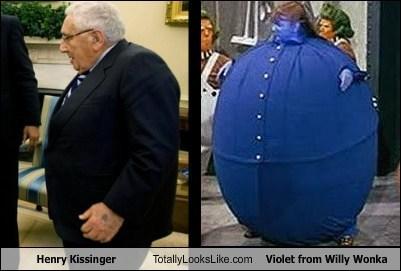 henry kissinger,Willy Wonka,blue berry,totally looks like
