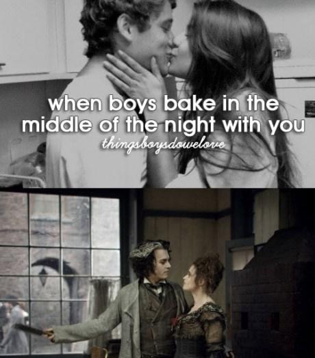 Sweeney Todd,baking,things boys do