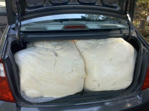 Pizza Dough + Hot Car = Fluffy Junk in the Trunk