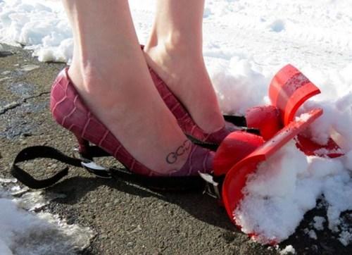 shoes,fashion,snow,plow