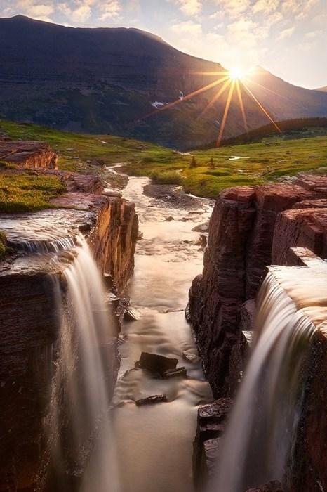 nature,Montana,landscape,waterfall,destination WIN!,g rated