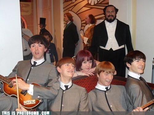 the Beatles,wax museum,pavarotti