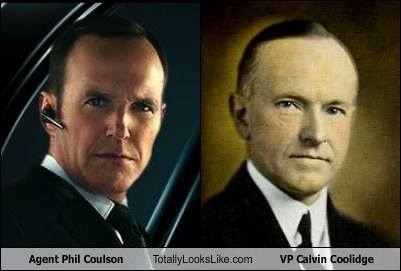 Agent Phil Coulson Totally Looks Like VP Calvin Coolidge