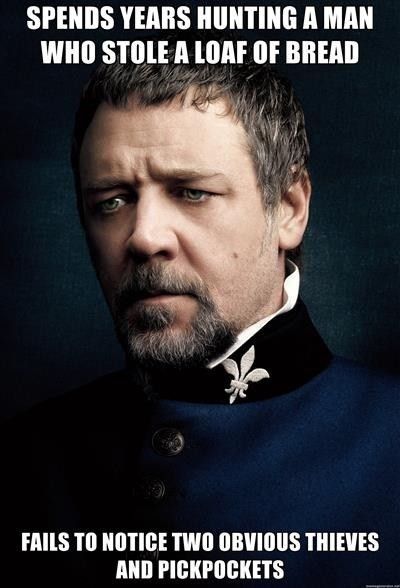 Javert, Y U No Convict Right Criminals?