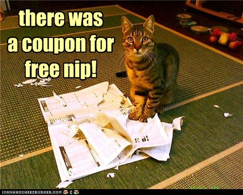 there was  a coupon for free nip!