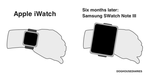 Samsung: Everything Apple Is Only With a Bigger Screen