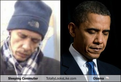 Sleeping Commuter Totally Looks Like Obama
