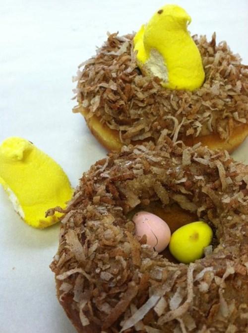 doughnuts,easter,nest,peeps