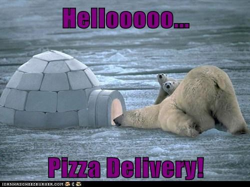 Hellooooo...  Pizza Delivery!