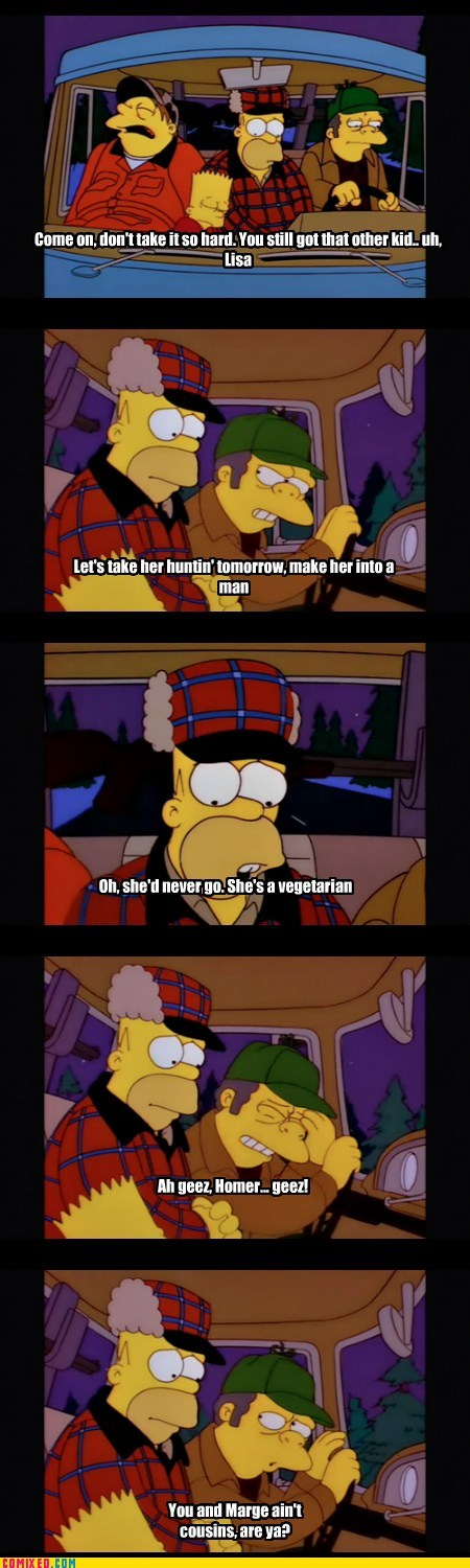 family issues,simpsons,hunting