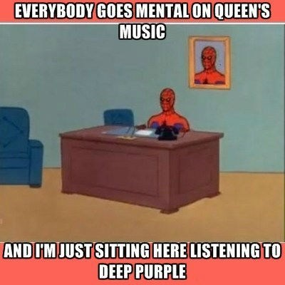queen,deep purple,Spider-Man