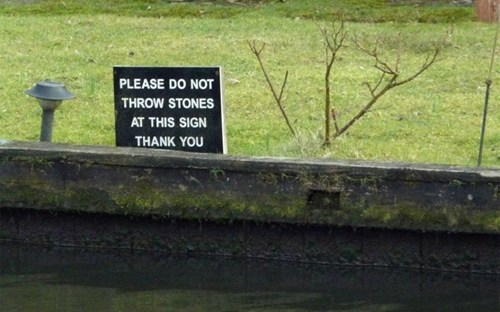 And No, We're Not Removing the Sign