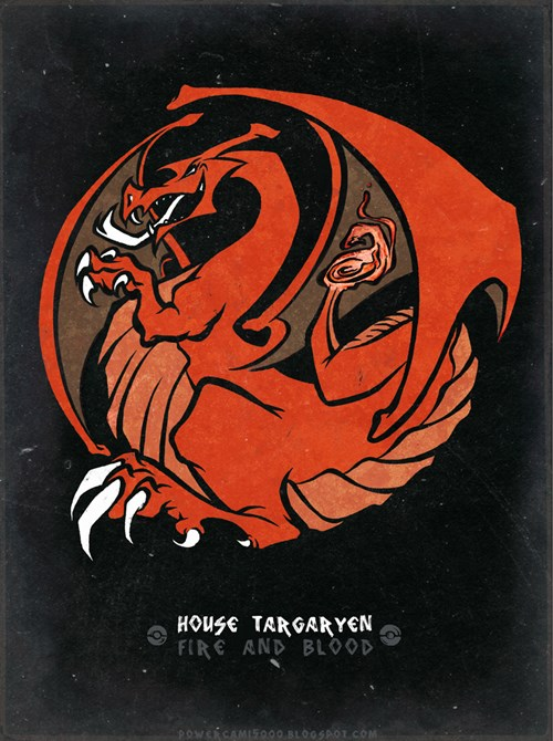 Game of Thrones House Sigils Reimagined as Pokémon
