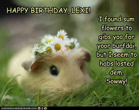 HAPPY BIRTHDAY, LEXI!