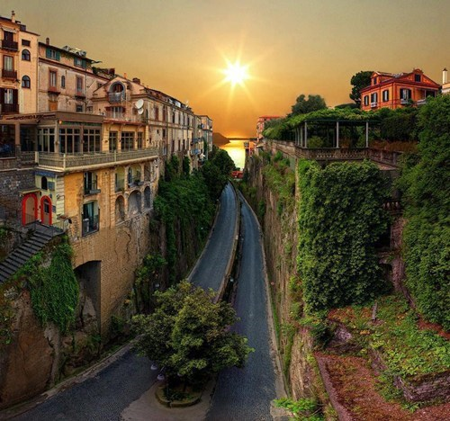 On the Road in Sorrento, Italy