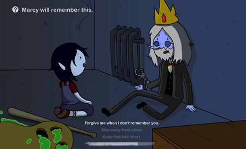 Marcy will remember this.