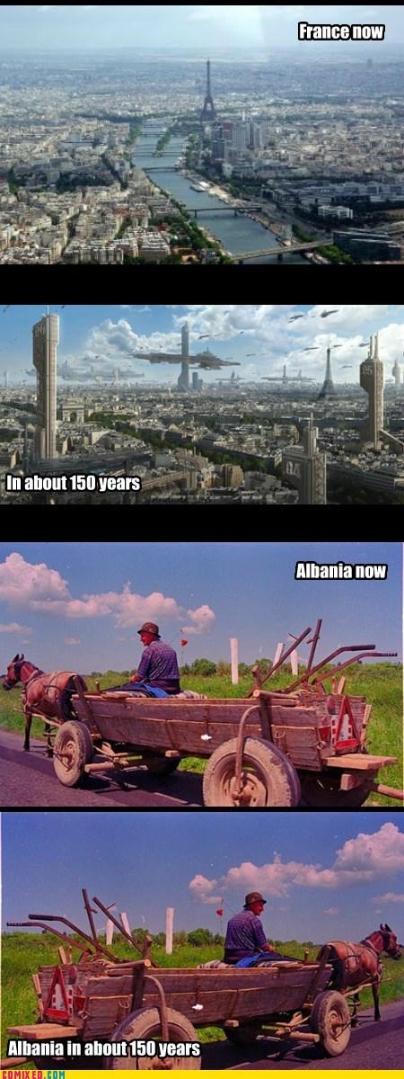 cities,future,horses,albania,france