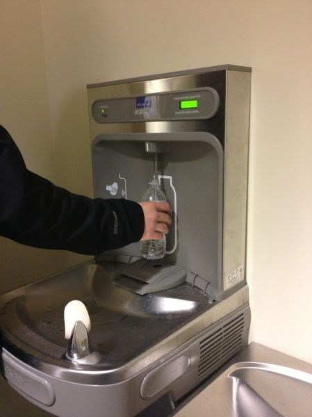I'm Glad They Rigged the Drinking Fountain so That it Now Dispenses Water
