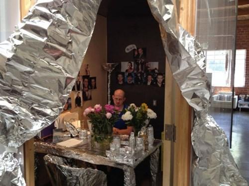 tin foil,Office,pranks
