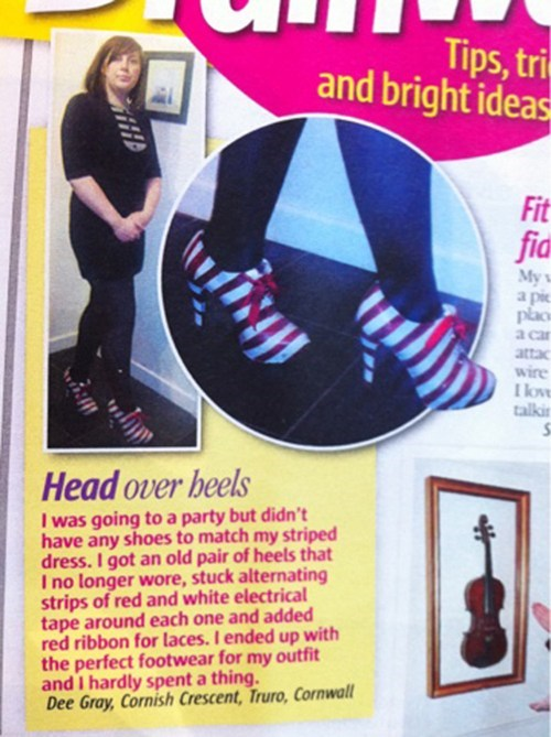 shoes,fashion magazines,DIY