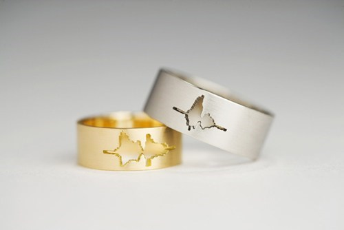 Wedding Rings With the Waveform of Couple's Voices Saying 'I Do'