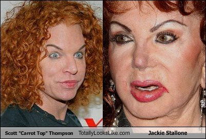 "Scott ""Carrot Top"" Thompson Totally Looks Like Jackie Stallone"