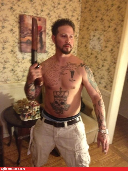 Sorry Man! I Take it Back! The Tats are Great! Put the Gun Down!