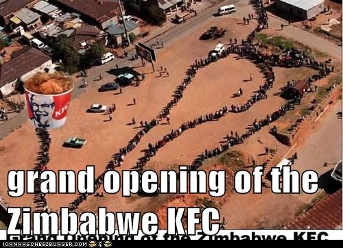 grand opening of the Zimbabwe KFC