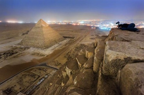 A New Perspective of the Day: From the Top of the Egyptian Pyramid